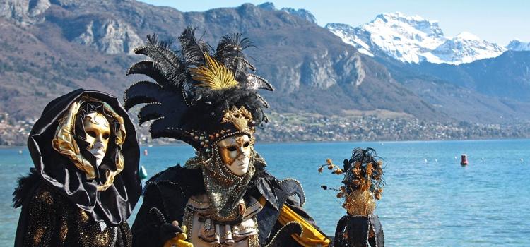 Carnaval Vénitien d'Annecy en groupe