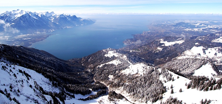 Une belle journée d'hiver dans les Alpes du Léman