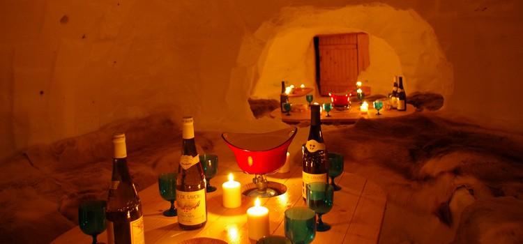 Raquettes en Chablais et déjeuner sous igloo